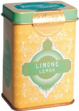 Leone Pastilles Lemon Flavour Sweets In Retro Chic Tin 42g